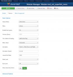 Superfish menu module