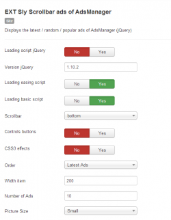 Sly Scrollbar ads of AdsManager module