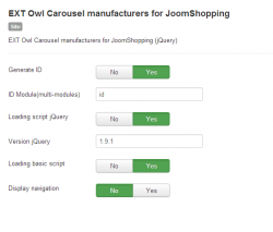 Owl Carousel manufacturers for JoomShopping module