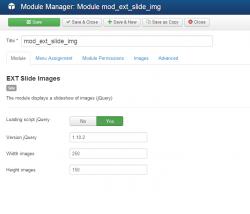 Slide images module