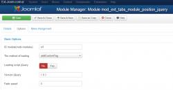 Tabs module positions jQuery module